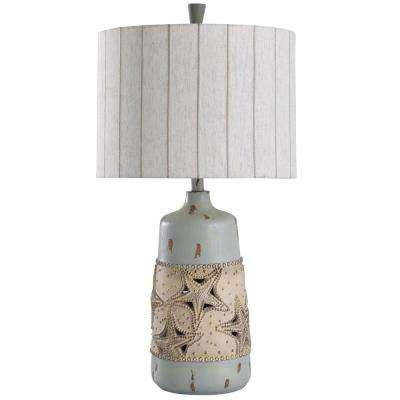 Staybridge 31 in. Blue, Cream Table Lamp