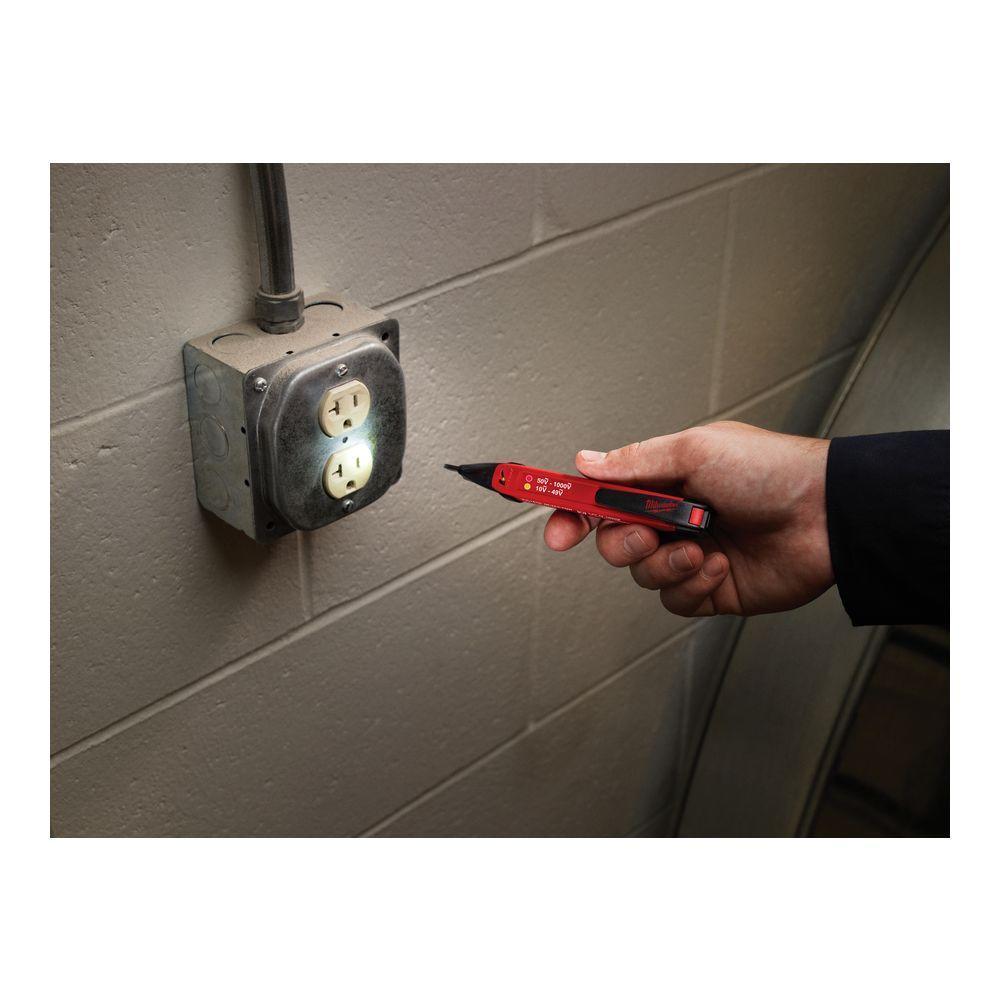 Milwaukee 2203-20 10-1000V Dual Range Voltage Detector with LED