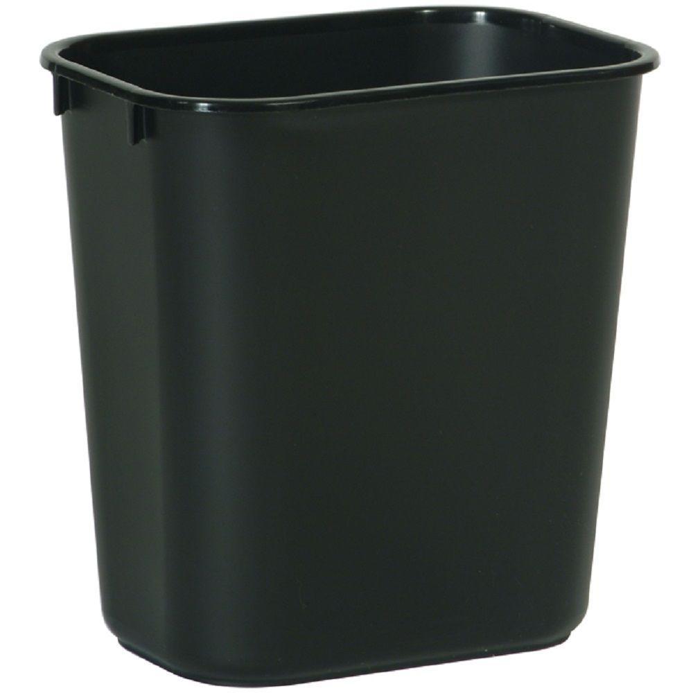3.25 Gal. Black Rectangular Trash Can