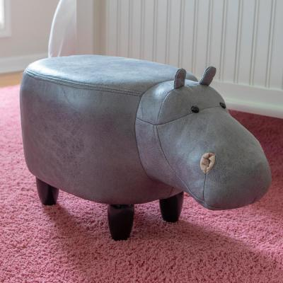 Amazing Decor Therapy Hippo 15 In Gray Stool Fr8704 The Home Depot Evergreenethics Interior Chair Design Evergreenethicsorg