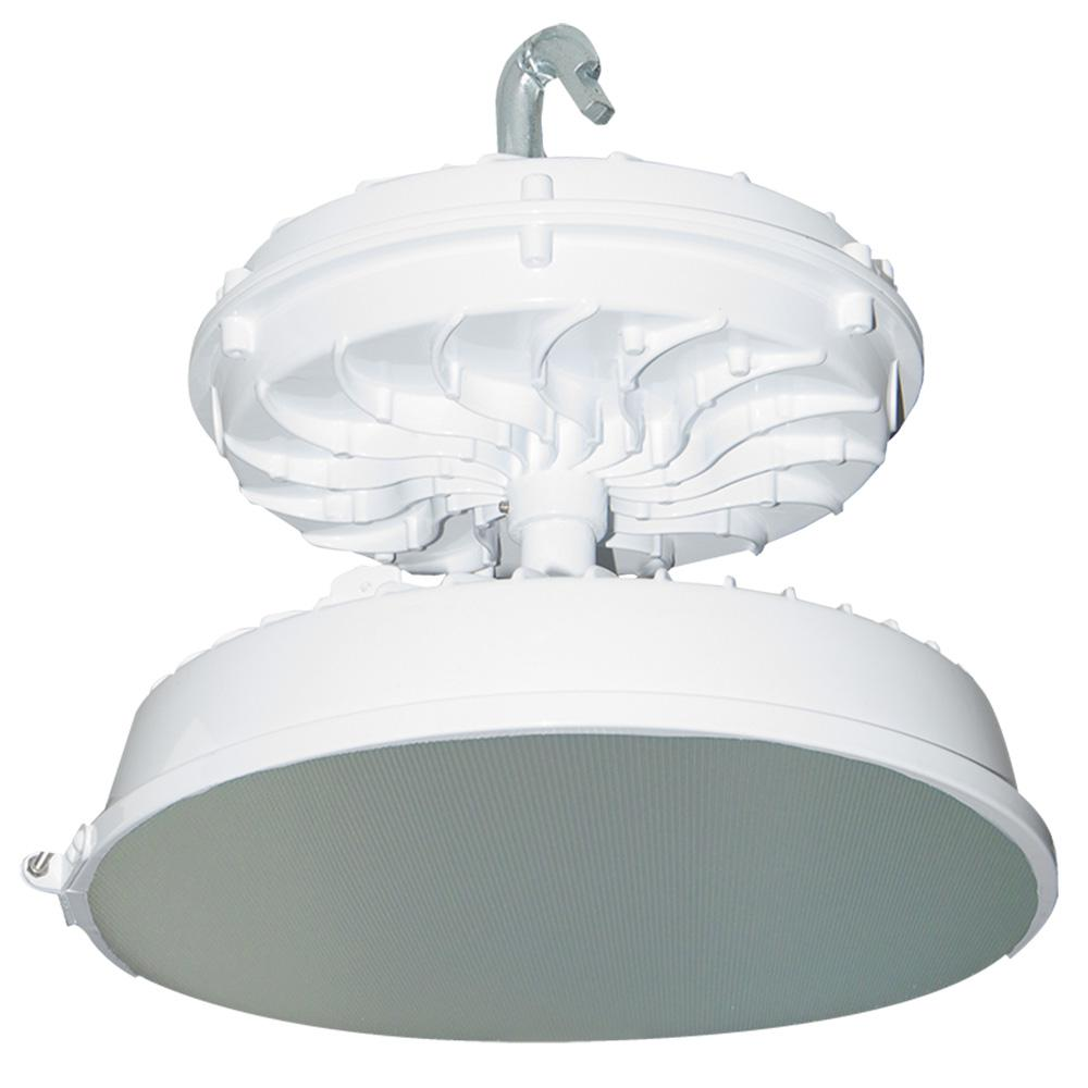 169-Watt White Integrated LED Indoor High Bay with Prismatic Glass Lens