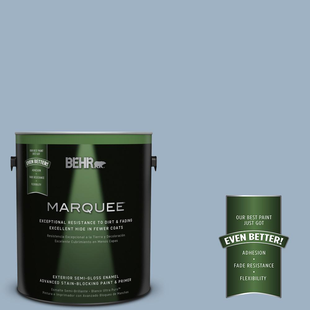 BEHR MARQUEE 1-gal. #S520-3 Perfect Landing Semi-Gloss Enamel Exterior Paint