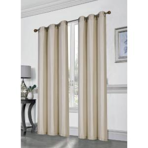 84 inch Loft Blackout Grommet Curtain Panel Pair in Antique by