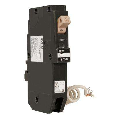 Type CH 15 Amp 3/4 in. Single Pole Ground Fault Circuit Breaker with Trip Flag
