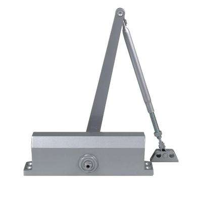 Commercial Door Closer with Heavy Duty Hold Open Arm in Aluminum (Size 3)