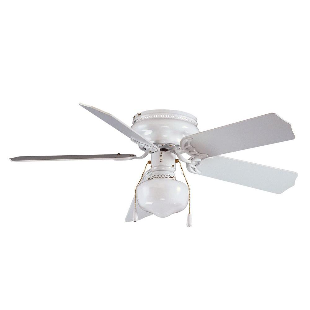 Royal Pacific 1-Light Fan White Blades White Finish-DISCONTINUED