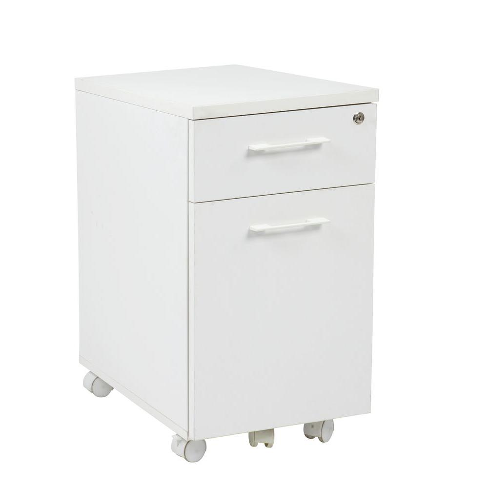 Work Smart White File Cabinet-PRD3085-WH