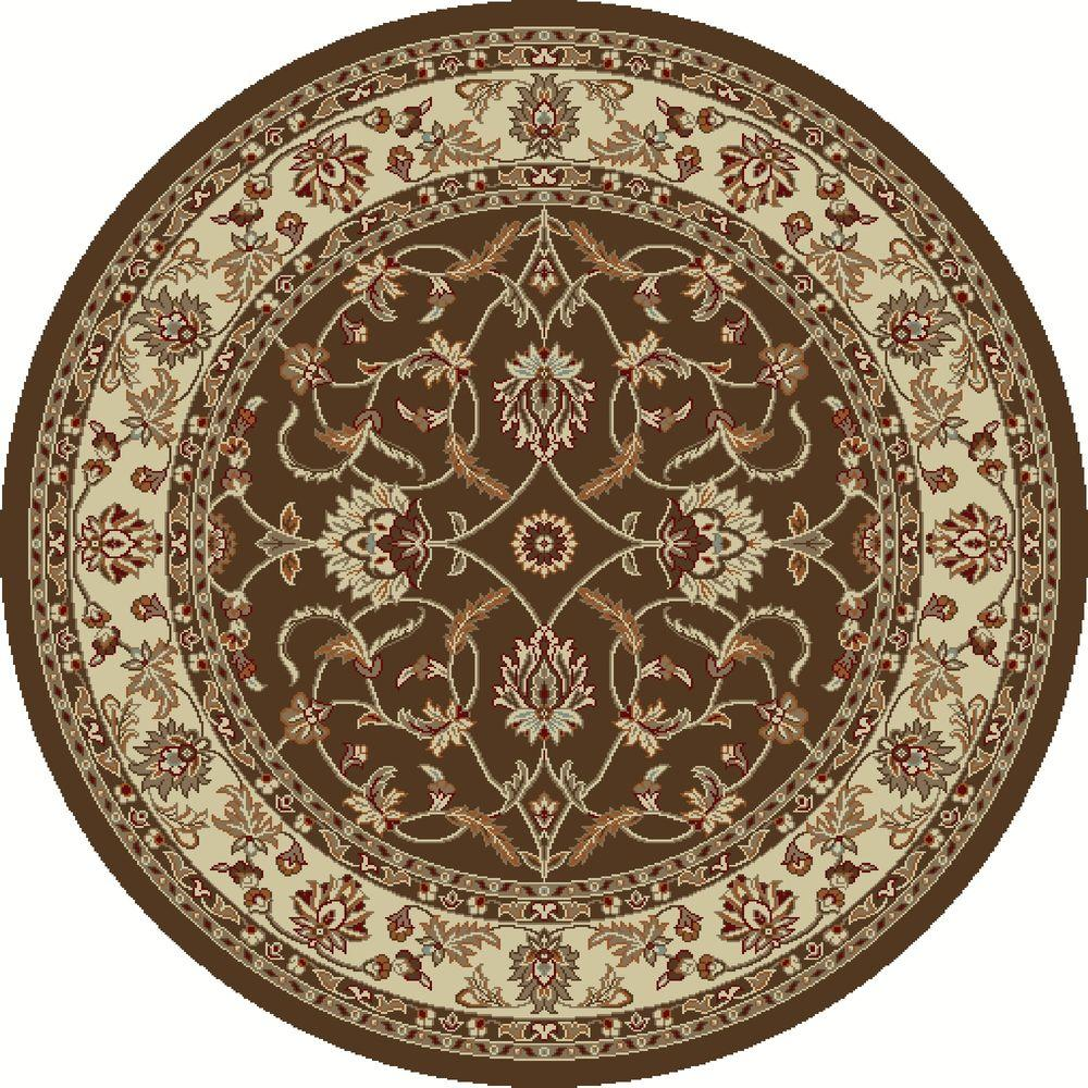 Chester Sultan Brown 7 ft. 10 in. Round Area Rug