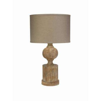 27.5 in. Windward Table Lamp with Natural Linen Drum Shade