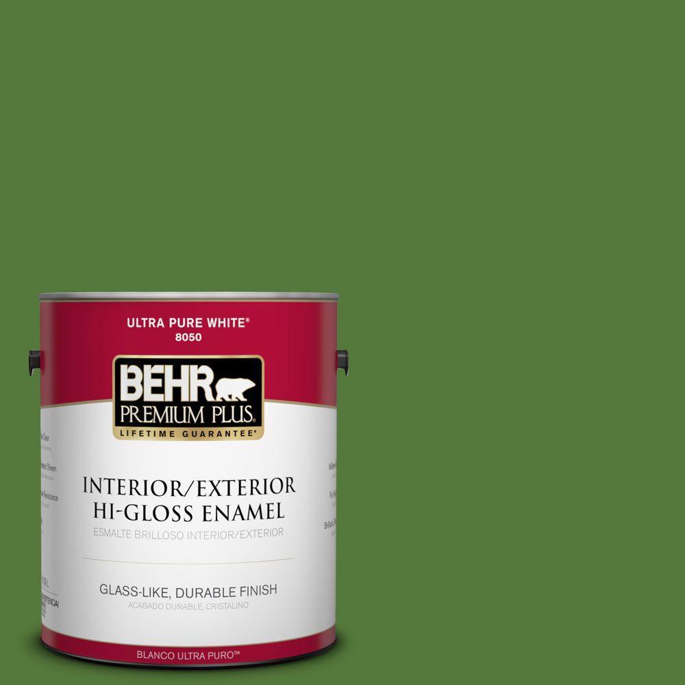 BEHR Premium Plus 1-gal. #P380-7 Luck of the Irish Hi-Gloss Enamel Interior/Exterior Paint