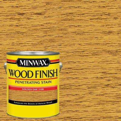 1 gal. Wood Golden Oak Oil Based Interior Stain (2-Pack)