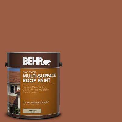 1 gal. #RP-25 Terra Stone Flat Multi-Surface Exterior Roof Paint