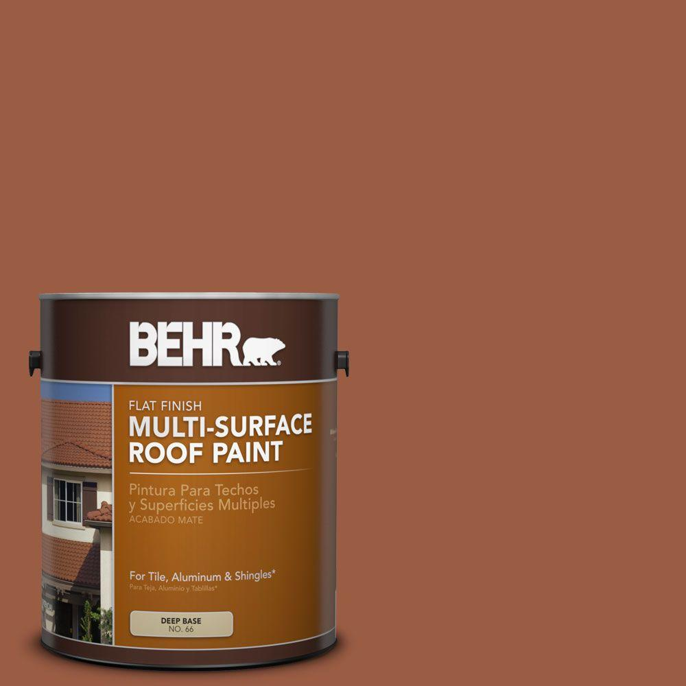 BEHR 1-gal. #RP-25 Terra Stone Flat Multi-Surface Roof Paint