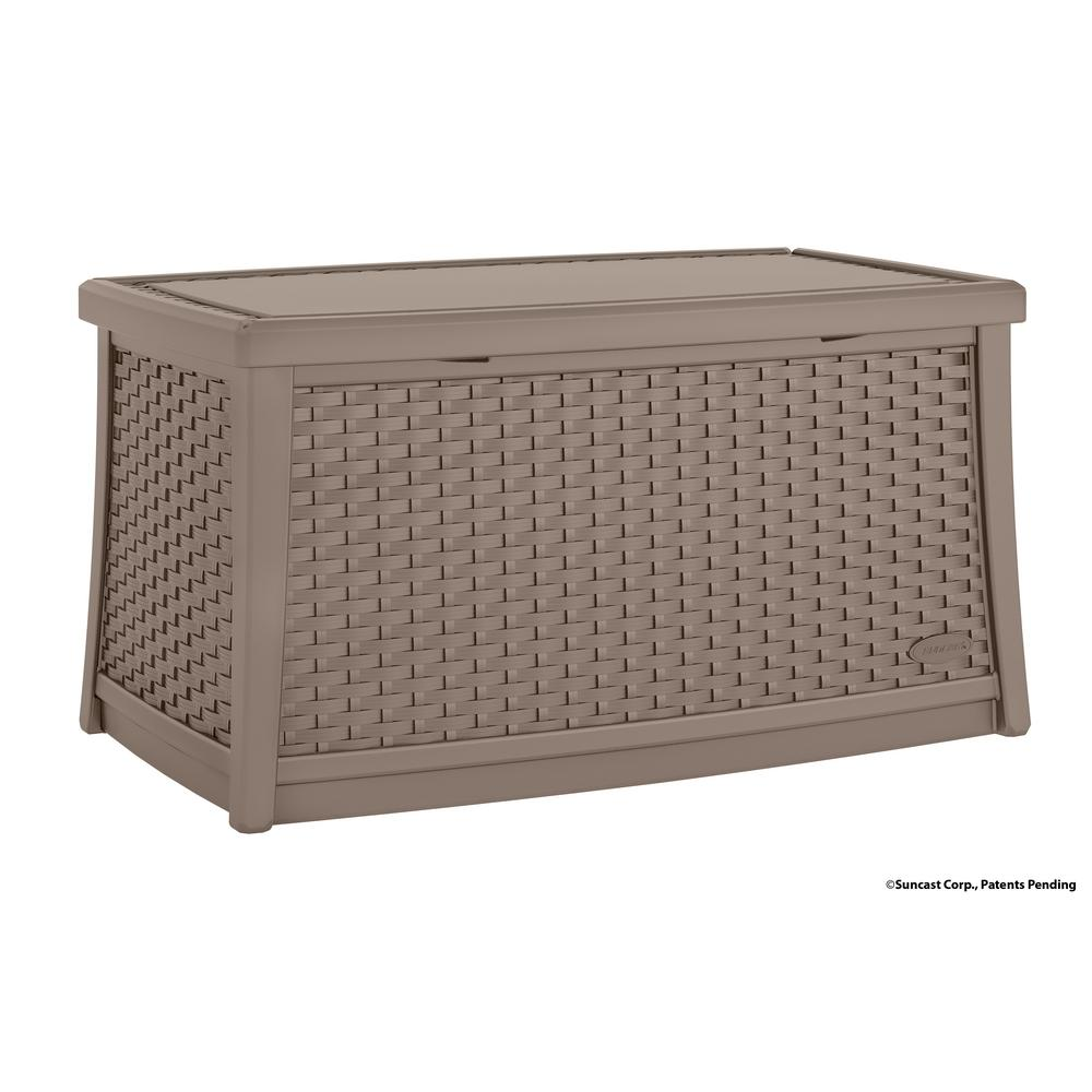 Suncast Elements Resin Outdoor Coffee Table With Storage