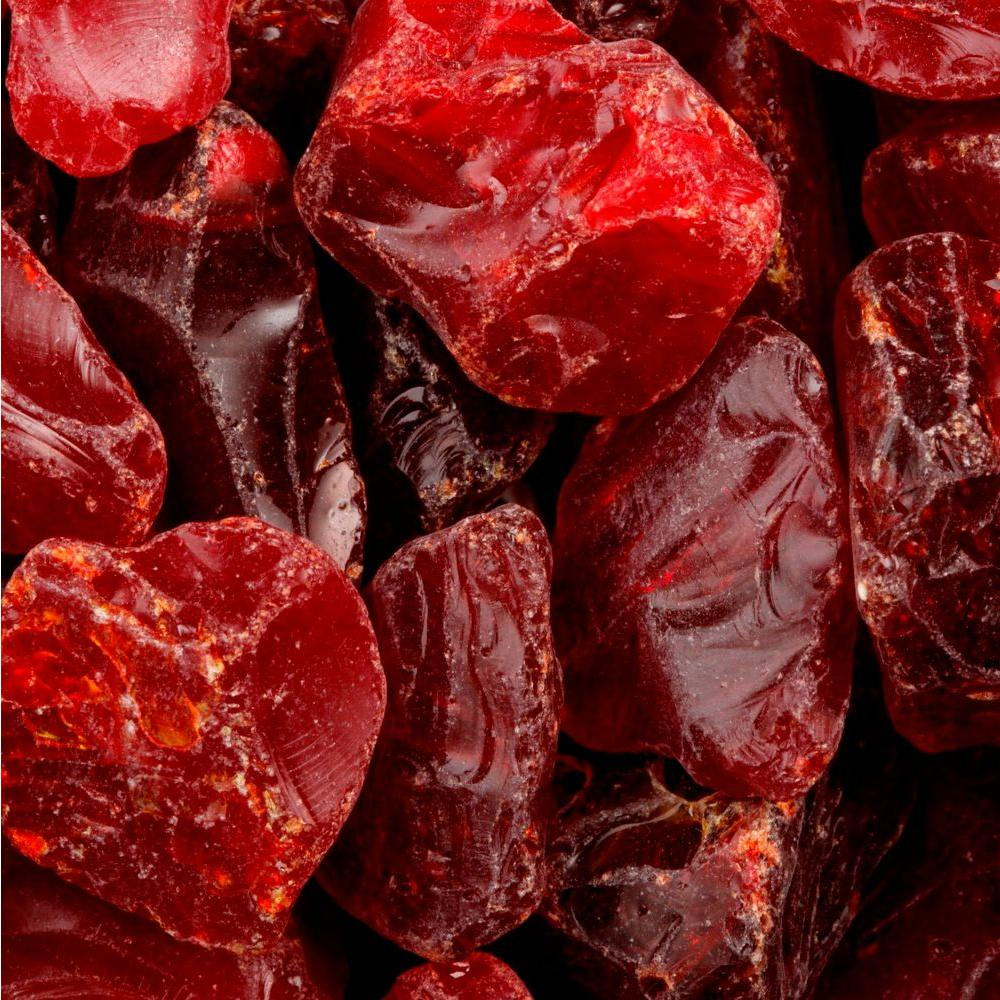 FireCrystals 50 lbs. Red Nugget Fire Glass Value Pak
