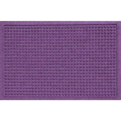 Aqua Shield Squares Purple 17.5 in. x 26.5 in. Door Mat