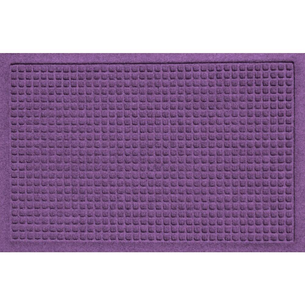 Aqua Shield Squares Purple 17.5 in. x 26.5 in. Door Mat