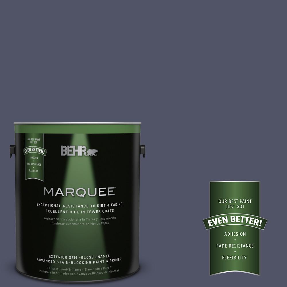 BEHR MARQUEE 1-gal. #S560-7 Lap of Luxury Semi-Gloss Enamel Exterior Paint