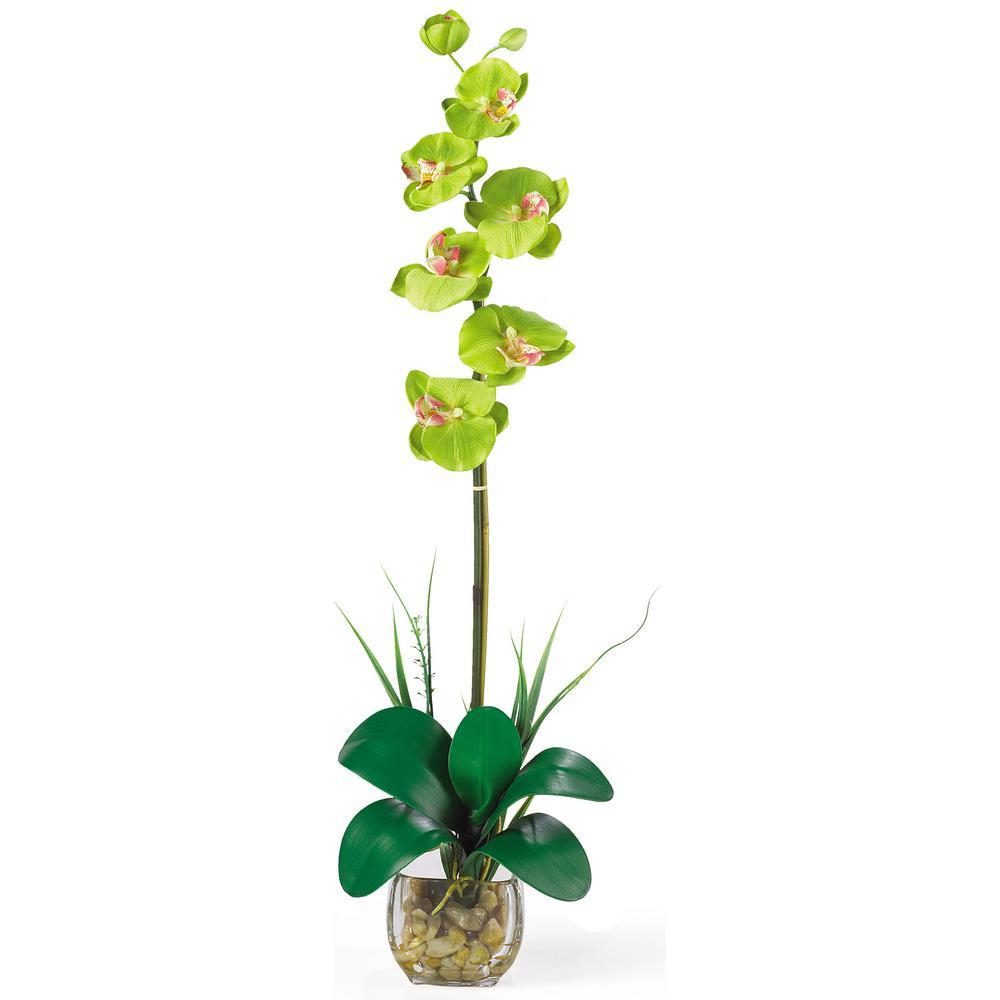 Nearly Natural 27 in. Single Phalaenopsis Liquid Illusion Silk Flower