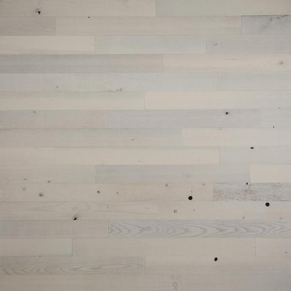 Timberchic Timberchic 1/8 in. x 3 in. x 12-42 in. Peel and Stick White Wooden Decorative Wall Paneling (10 sq. ft./Box)