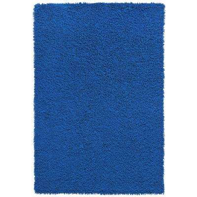 Midnight Blue Shag Chenille Twist 2 ft. 6 in. x 4 ft. 2 in. Accent Rug