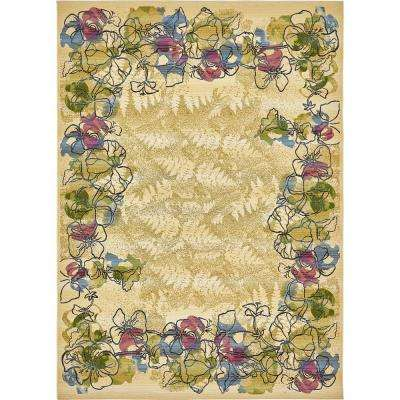 "Outdoor Botanical Cream 8' x 11'4"" Rug"