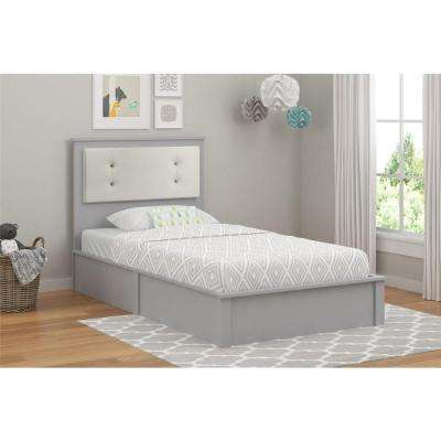 Willow Lake Light Slate Gray Twin Platform Bed