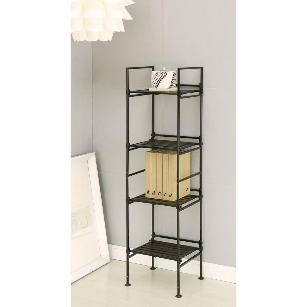Espresso Steel Bookcase
