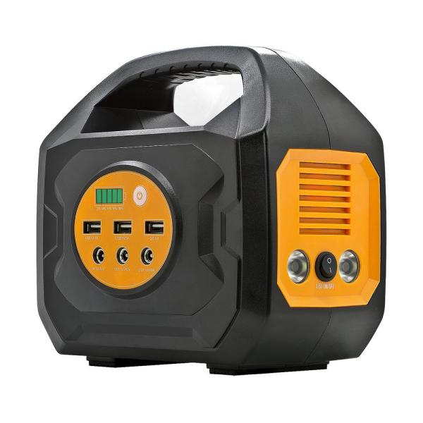 200-Watt Lithium-Ion Solar/Car Powered Portable Generator for Camping and Emergency Power Supply