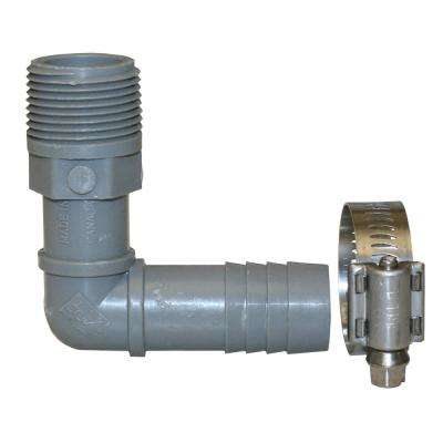 Hydrant Installation Kit Contains 1 PHE75 3/4 in. MIP x INS Poly 90-Degree Elbow and 1 M67127 SS Clamp