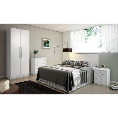 Chelsea 2.0 - 35.43 in. W Basic White Armoire 2 with 3 Drawers and 2 Doors