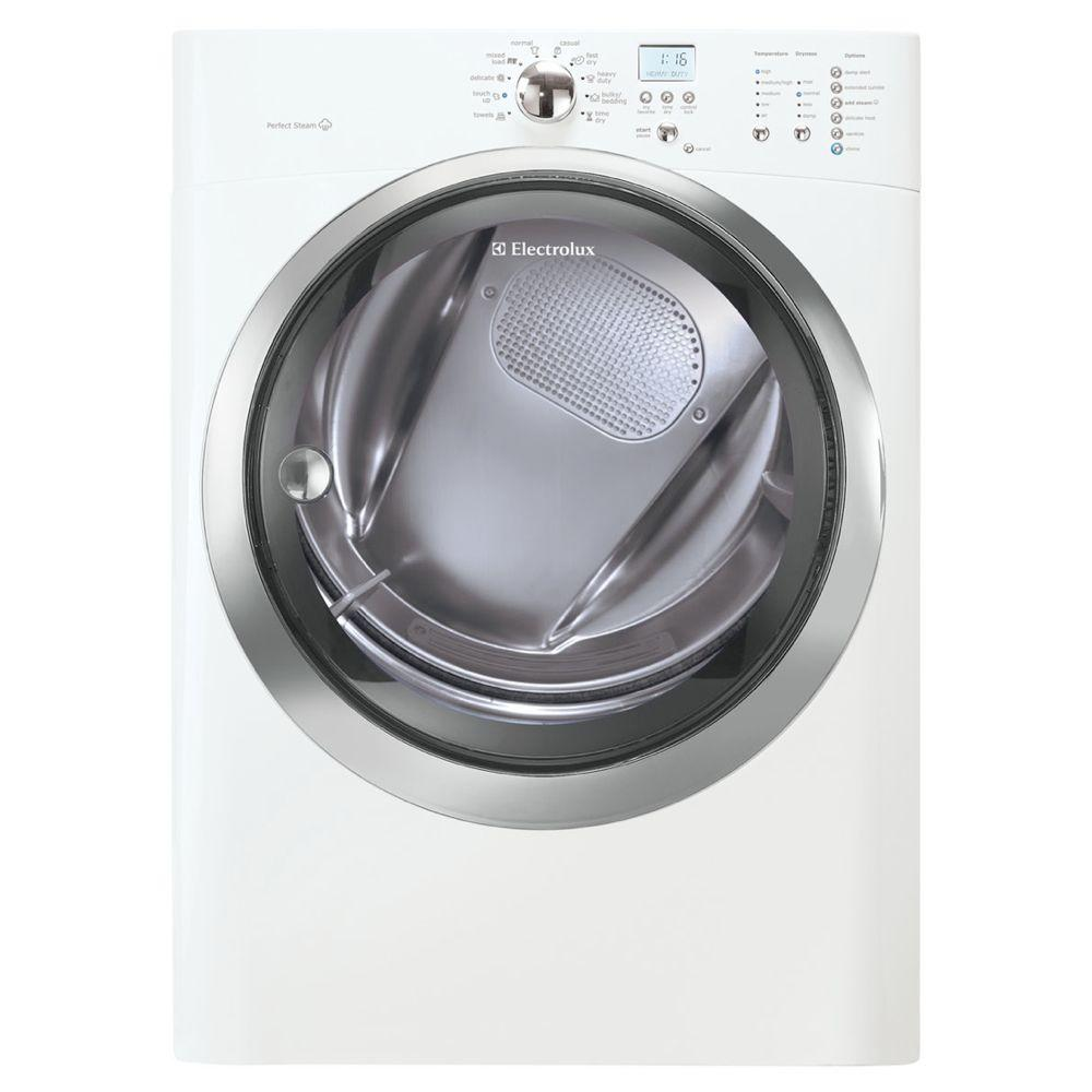 Electrolux IQ-Touch 8.0 cu. ft. Electric Dryer with Steam in White
