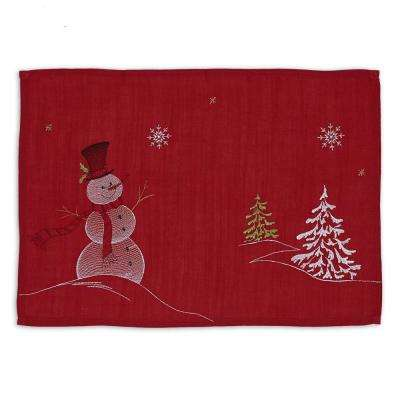 Multi Embroidered Snowman Placemat (Set of 6)