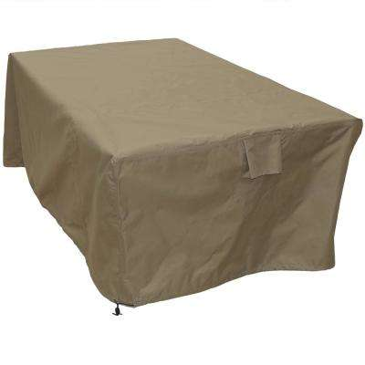 Khaki Protective Square Dining Table Cover