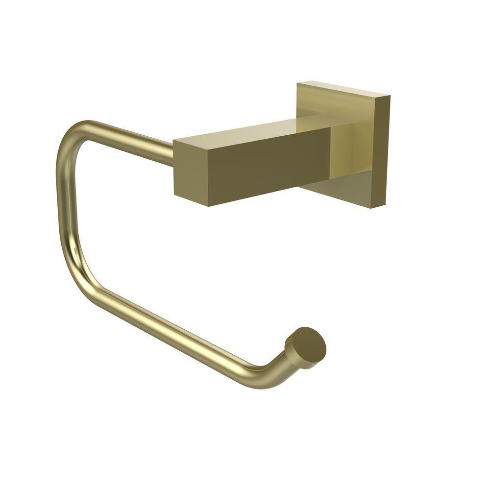 Montero Collection Euro Style Single Post Toilet Paper Holder in Satin Brass
