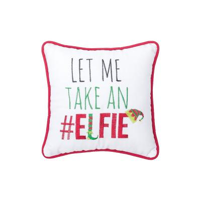 Red 10 in.  x 10 in. Elfie Pillow