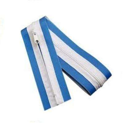 Blue Zip Up 3 in. (W) x 7 ft. (L) Peel & Stick Zipper Door