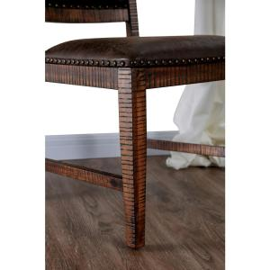 Incredible Furniture Of America Remy Light Walnut Upholstered Side Uwap Interior Chair Design Uwaporg