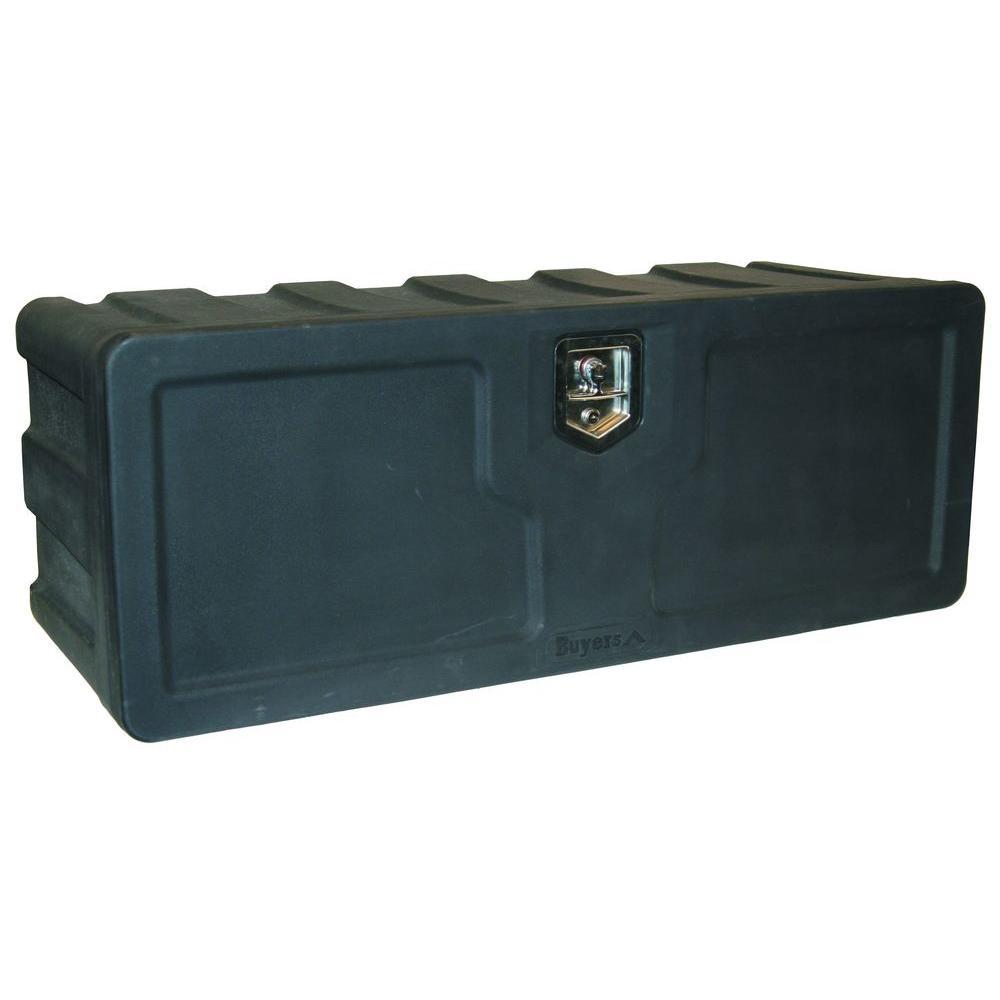 18 in. x 18 in. x 36 in. Matte Black Plastic Underbody Truck Tool Box