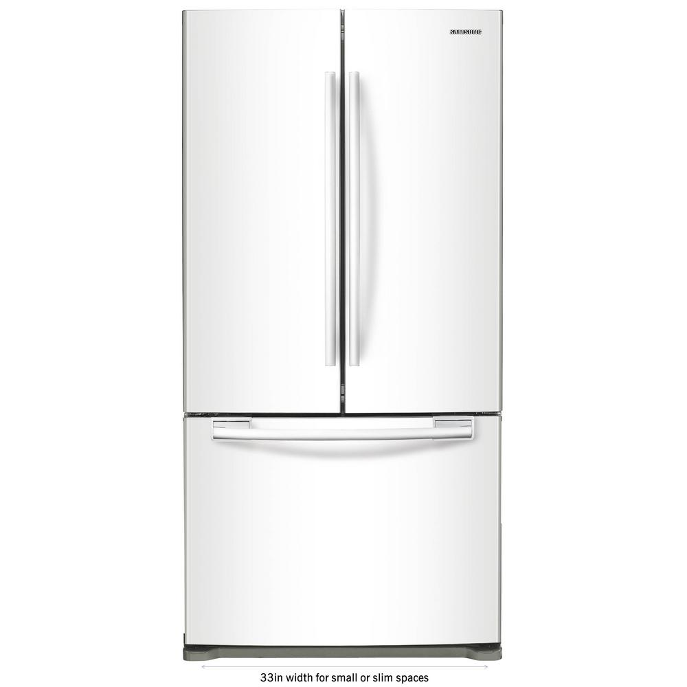 Samsung 33 In W 175 Cu Ft French Door Refrigerator In White