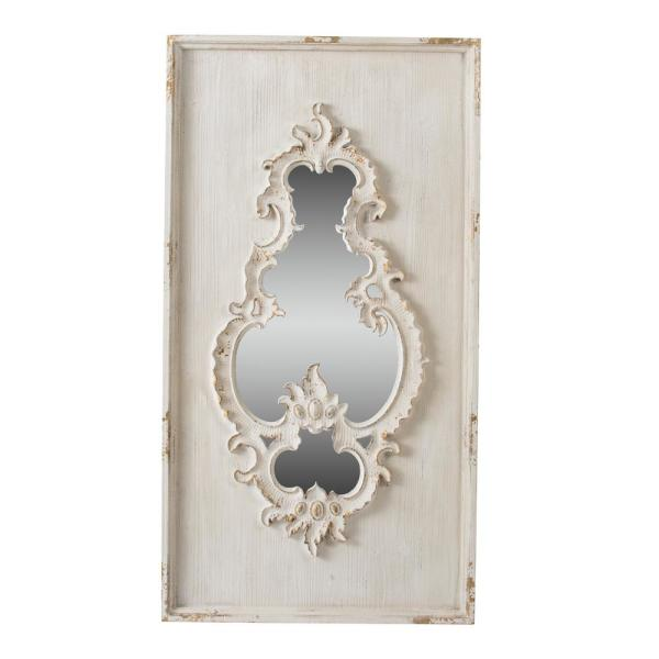 Large Irregular Cream Mirror (56.1 in. H x 29.9 in. W)