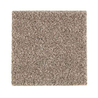 Carpet Sample - Maisie II - Color Canyon Shade Texture 8 in. x 8 in.