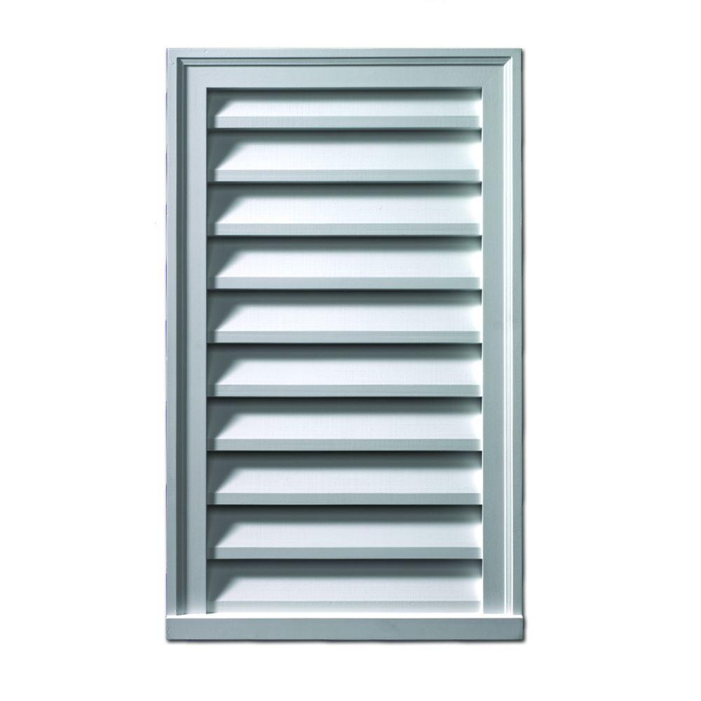 Fypon 18 in. x 30 in. x 2 in. Polyurethane Functional Vertical Louver Gable Vent