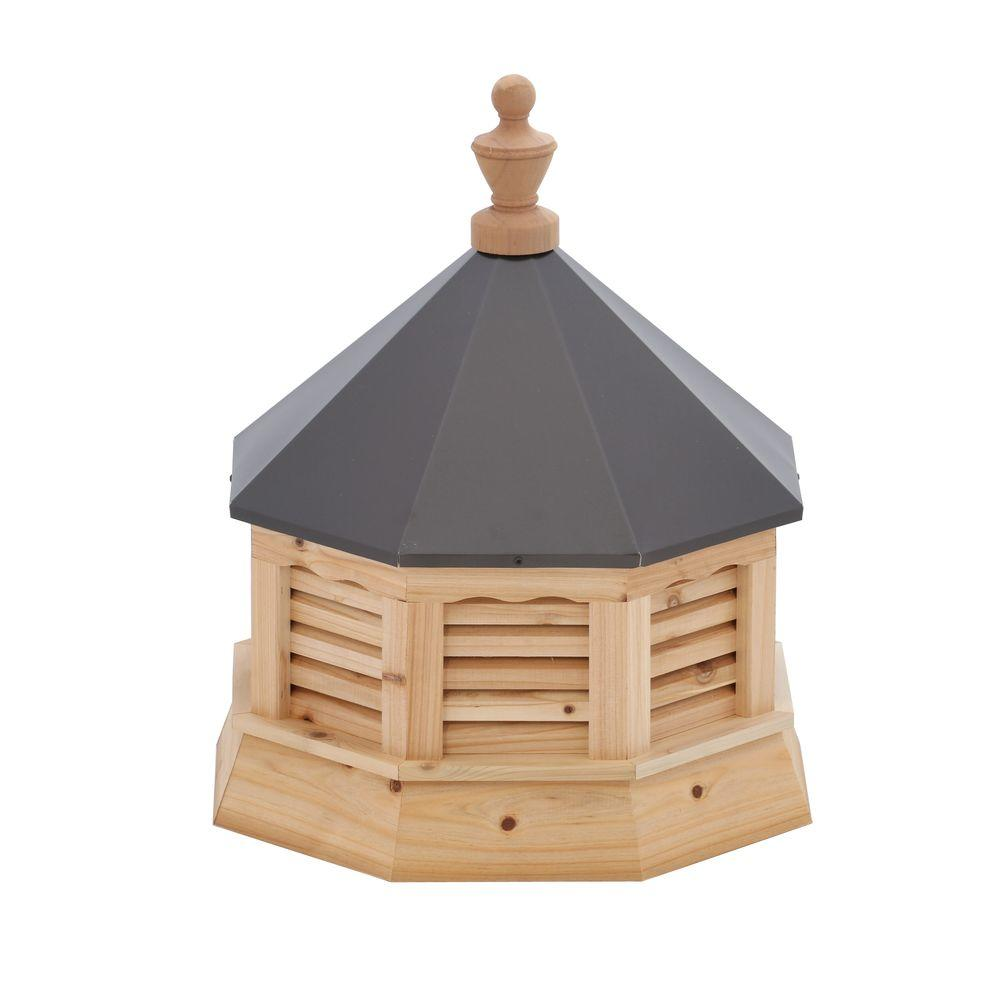 HomePlace Structures 21 in. x 21 in. x 26 in. Cedar Octagon Cupola with Metal Roof
