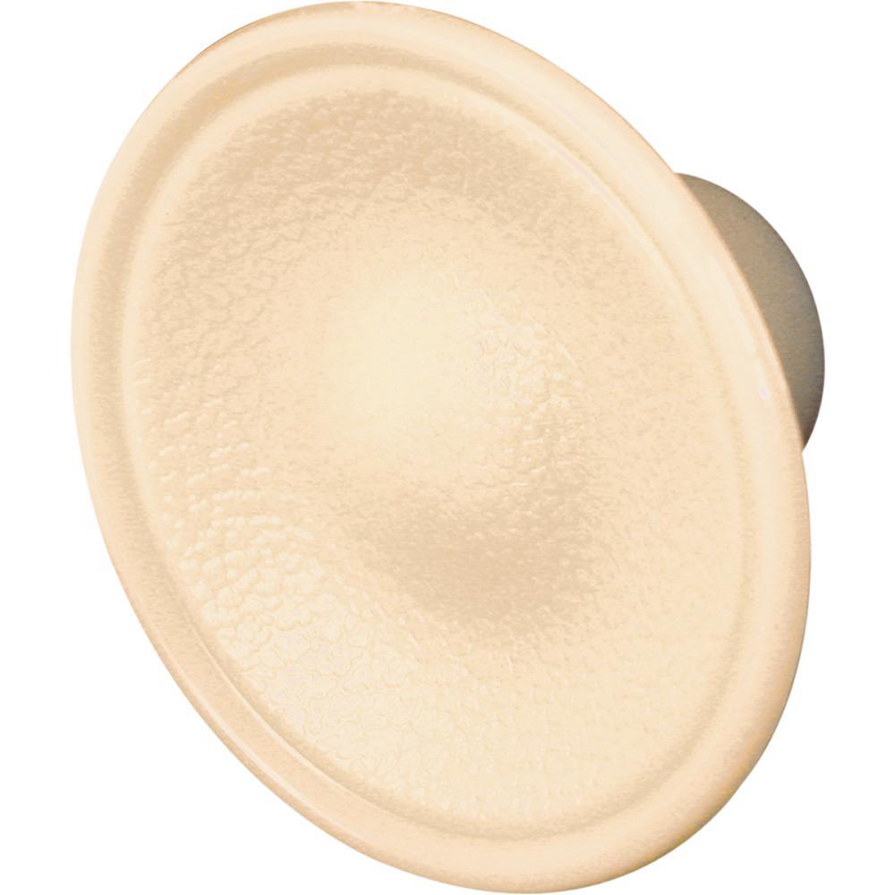 1-3/4 in. O.D. Plastic Round Knob Bi-Fold Door - Ivory Color 2-Pack