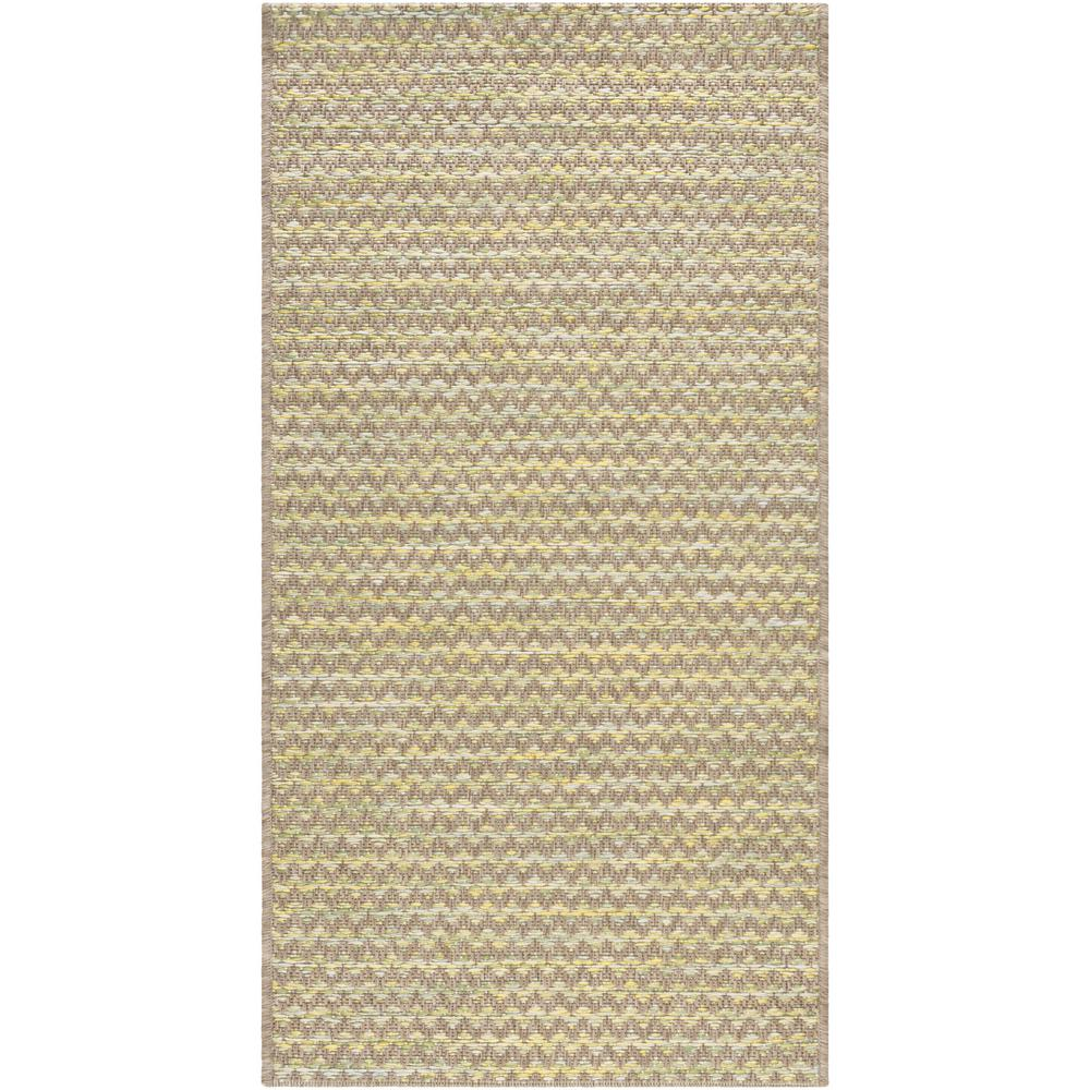 Evonne Brown 2 ft. x 4 ft. Indoor/Outdoor Area Rug
