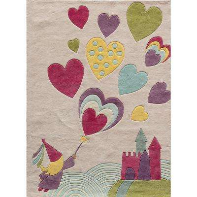 Lil Mo Whimsy Princess Castle Pink 2 ft. x 3 ft. Indoor Kids Area Rug