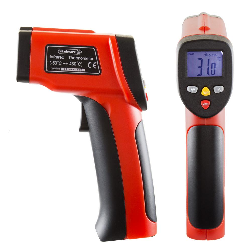 1Pack Contactless Infrared Forehead Thermometer with LCD Display Digital Laser Temperature Tool