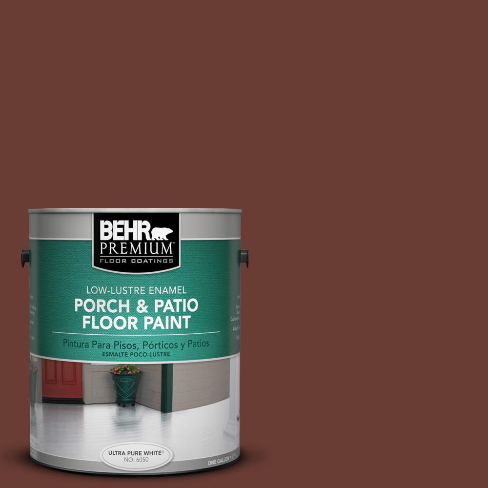 1 gal. #ECC-42-3 Deep Cherrywood Low-Lustre Interior/Exterior Porch and Patio Floor Paint