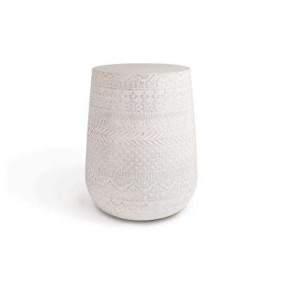 Montgomery Round Concrete Stone Outdoor Accent Table